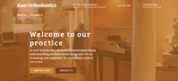 Kast Orthodontics Website in Burnt Orange Layout